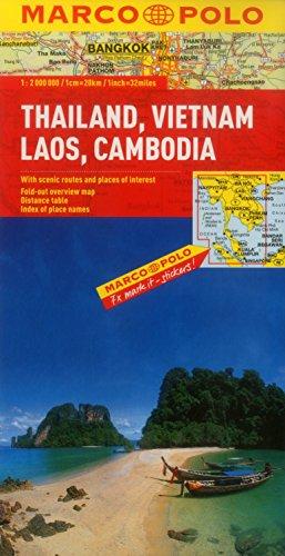 Thailand, Vietnam, Laos, & Cambodia Marco Polo Map (Marco Polo Maps)