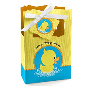ducky duck personalized baby shower favor boxes toys