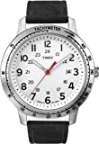Timex Men's T2N638 Weekender Sport Black Nubuck Leather Strap Watch