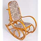 Rocking Chair Style Thonet Chaise à Bascule Fauteuil Salon Jardin SK52