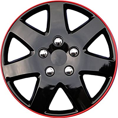 """NEW 15"""" SILVER/LACQUER ABS HUB CAPS WHEEL COVER 4PC SET for TOYOTA SOLARA 02-03"""