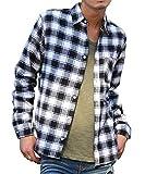 マイノリティセレクト(MinoriTY SELECT) ネルシャツ メンズ チェック ネル シャツ 長袖 赤 黒 M F柄(16)