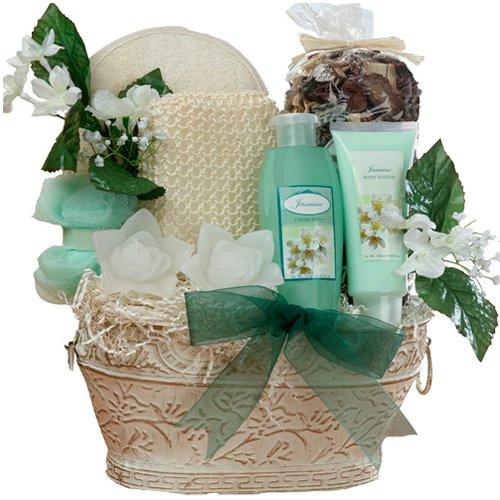 Art of Appreciation Gift Baskets Medium Jasmine Renewal Spa Bath and Body Set