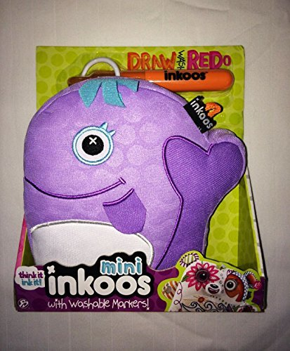 Inkoos Mini Plush Whale with Marker - Purple