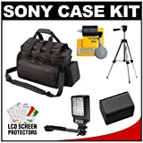 51RUtqndkhL. SL160  Sony Handycam LCS VCD Soft Video Camcorder Case (Black) with NP FV70 Battery + Tripod + LED Video Light + Accessory Kit for NEX VG10, HDR CX560V, HDR XR160, HDR CX360V, HDR PJ50V, HDR PJ30V, HDR CX700V, HDR TD10