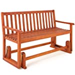 Wooden Swinging Seater Bench Garden O...