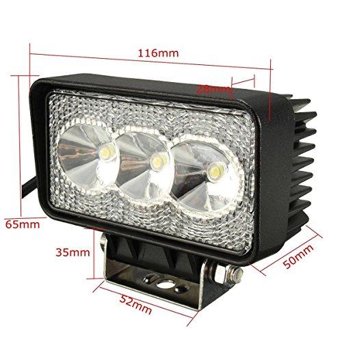 AUDEW 9W 630LM 3 LED Spot Light Feux Brouillard Travail Lampe Pour Camion Caravan Offroad ATV SUV