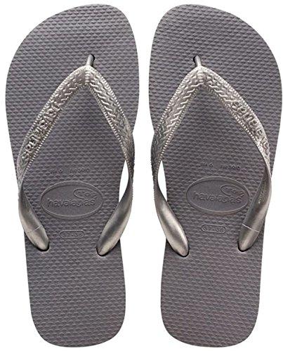 Havaianas Top Metallic - Sandali unisex, Grigio (Grey (Steel Grey 5178)), 37/38 BR (39/40 EU)