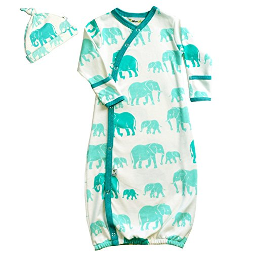 Wee Urban Elephant Gown and Cap Set 0-6 months - 1
