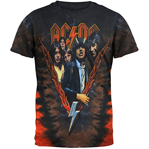 Official AC/DC - Highway To Hell Tie-Dye T-Shirt - S to XL