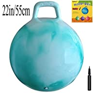 :Space Hopper Ball with Air Pump: 22in/55cm Diameter for Ages 10-12, Hop Ball, Kangaroo Bouncer,…
