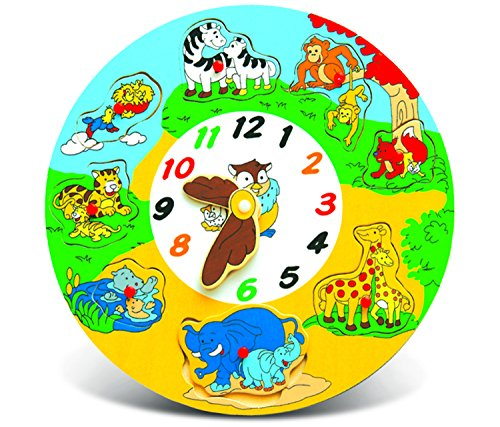 Puzzled Wooden Clock Animals Wooden Toys - 1