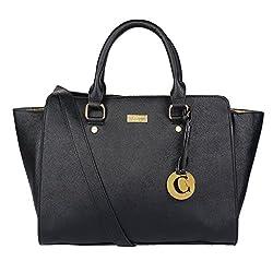 Cathy London Women's Handbag (Black,Cathy-1)
