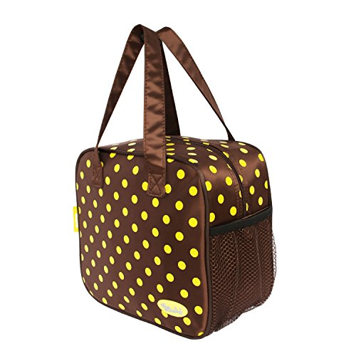 Lunch Tote Insulated Picnic Cooler Bag (Brown&Coffee) (Lunch Box Insulator compare prices)