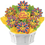 Birthday Smiles Cookie Bouquet Gift Basket {A248}