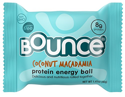 Bounce Natural Energy Ball, Gluten Free, Coconut Macadamia Protein Bliss, 1.41 Ounce, 12 count (Protein And Energy compare prices)