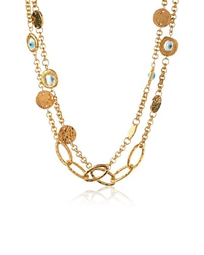 Blee Inara 18K Gold-Plated Eye Bead Necklace
