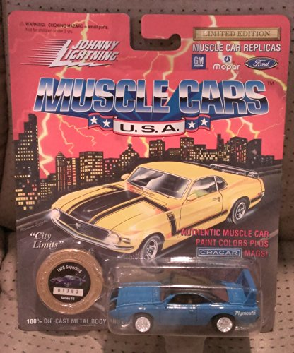 johnny lightning muscle cars BLUE 1970 superbird series 10 1994