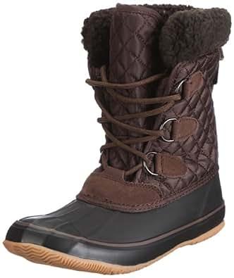 Kamik Women's Snowfling Insulated Boot, Dark Brown, 9 M US