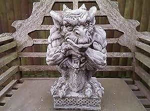 Sword Gargoyle Garden Ornament. Reconstituted stone. Superb Details.