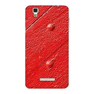 Red Texture Wood Designer Back Case Cover for YU Yureka Plus