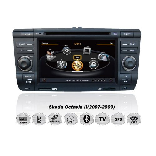 realmedia skoda octavia ii superb oem einbau touchscreen. Black Bedroom Furniture Sets. Home Design Ideas