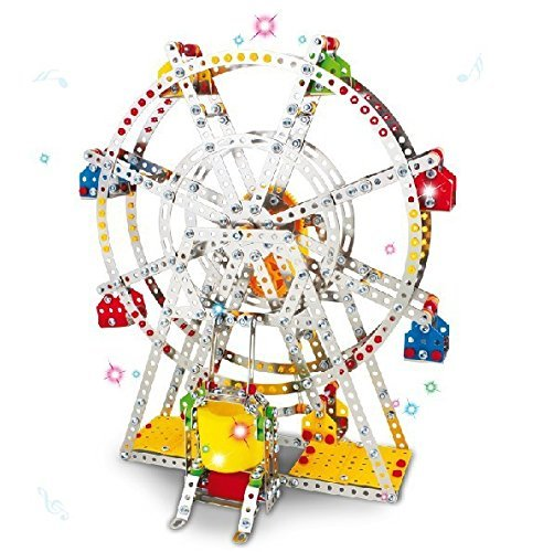 Ferris wheel Building model with metal Beams and screws Lights & Music 954 pcs