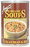 Amy's Organic Tuscan Bean and Rice Soup, 14.1-Ounce Cans (Pack of 12)