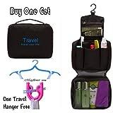 Mayflower CNF Travel * Portable Toiletry Bag Wash Bag Bathroom Hanging Bag Travel Bag Zipper Storage Bag (Black)