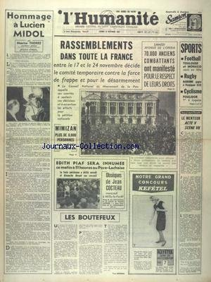 humanite-l-du-14-10-1963-hommage-a-lucien-midol-par-thorez-rassemblements-dans-toutes-la-france-mimi