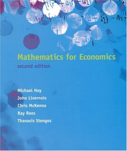 Mathematics for Economics - 2nd Edition