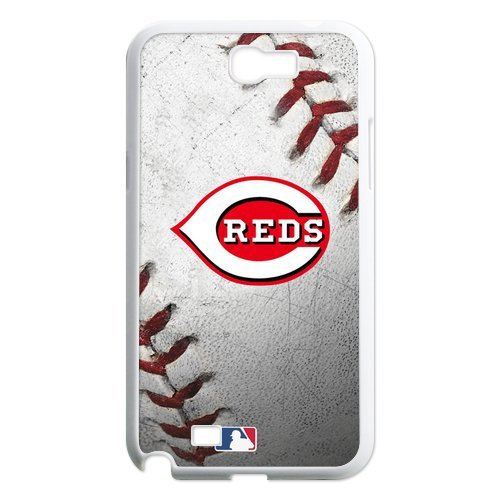 Generic Cell Phone Cases Cover For Samsung Galaxy Note 2 Case N7100 Forever Collectibles Fashionable Designed Baseball Team Cincinnati Reds Background Durable Plastic Shell