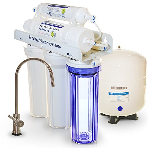 iSpring-RCC7-Built-in-USA-WQA-Gold-Seal-Certified-5-Stage-Reverse-Osmosis-Water-Filter-75-GPD-Transparent-1st-Stage-Designer-Faucet