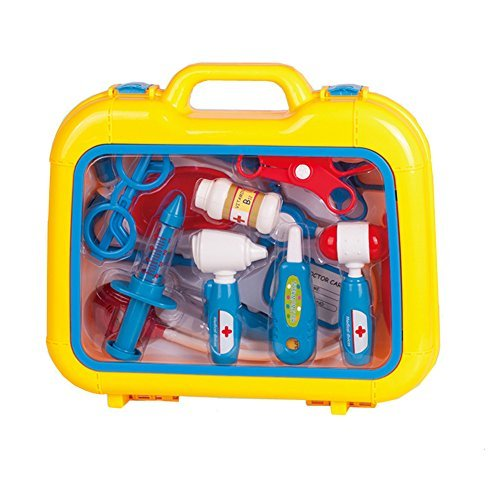 Pretend-Doctors-Nurse-Kit-13-Piece-Medical-Carrycase-Set-Role-Play-Fun-Toy-Gift-for-3-Years-Old-Kids