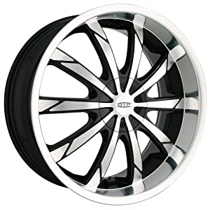 DIP Slack D66 Black Wheel with Machined Face and Lip (18x7.5