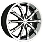 DIP Slack D66 Black Wheel with Machined Face and Lip (18×7.5″/10x112mm)
