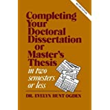 Resources for Writing a Thesis or Dissertation   Graduate