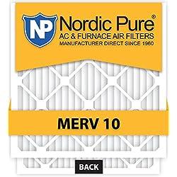 16x25x5 Lennox X6670 Replacement MERV 10 furnace Air Filter Qty 4