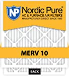 Nordic Pure 20x20x2 MERV 10 Pleated A...