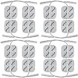 Axion - 16 pièces Electrodes autocollantes 40x40mm, avec contact à fiches de 2 mm. Pour l'appareils d'électrostimulation - TENS & EMS.