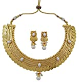 Banithani ginni Coine ensemble collier goldtone mariage bijoux indien sud traditionnelle