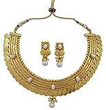 Banithani ginni Coine ensemble collier goldtone mariage bijoux indien sud traditionnelle