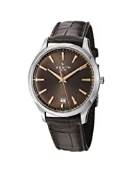 Zenith Class Elite Men's Brown Dial Brown Strap Automatic Watch 03.2020.670/76.C498