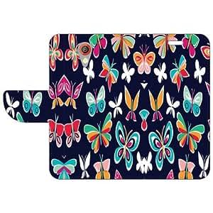 HTC Desire 620G Flip Cover - Butterfly Art Designer Flip Cover