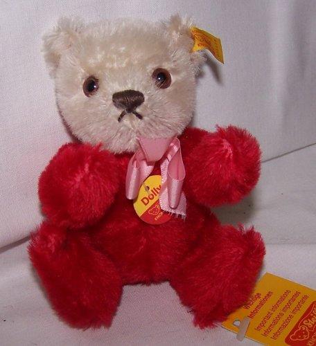 STEIFF 030628 Dolly Teddybär rot/beige mit rosa