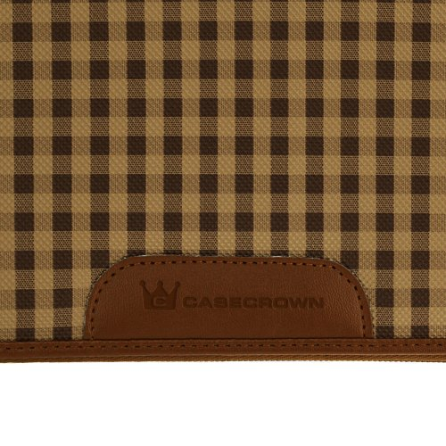CaseCrown Oxford Zip Case (Beige/Brown)