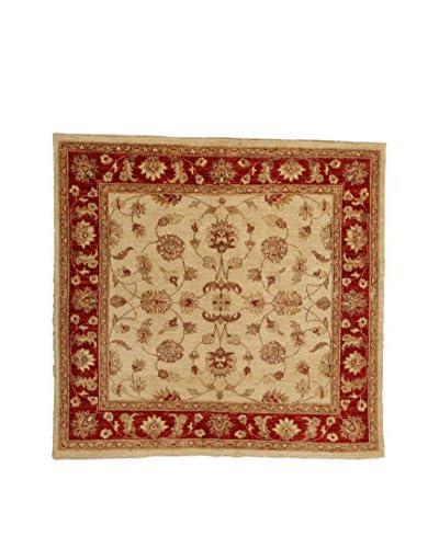 Design By Gemeenschap Loomier tapijt Ozbeki Ziegler Een beige / rood 147 x 154 cm