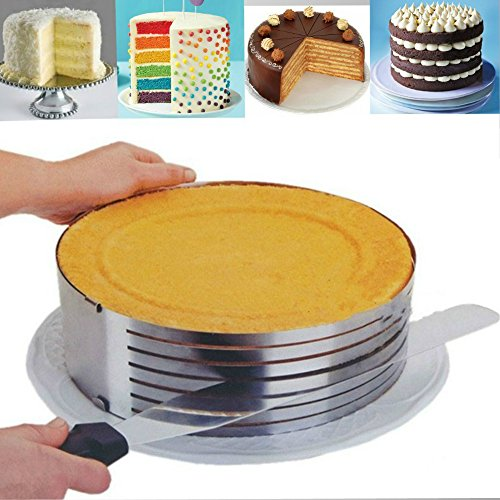 Layer Cake Slicing. Adjustable Cake Ring 9.8-12.2 inches. 1 Cake Ring Mold, Cake Layer Pans Cake, Cake Ring Cutter, Mousse Cake Ring, Layer Cake Slicer, Cake Decorating Supplies. 100% GUARANTEED! (Spider Man Cake Pan compare prices)