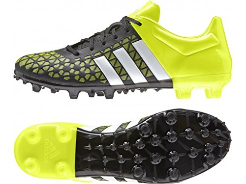 adidas Performance - Ace 15.3 Fg/ag, Scarpe da calcio Uomo, Multicolore (Black / Green / White), 42 EU