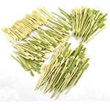 400 pcs Bamboo Skewer / Decorative Cocktail Picks Assortment 11, Paddle Picks and Mini Forks by BambooMN